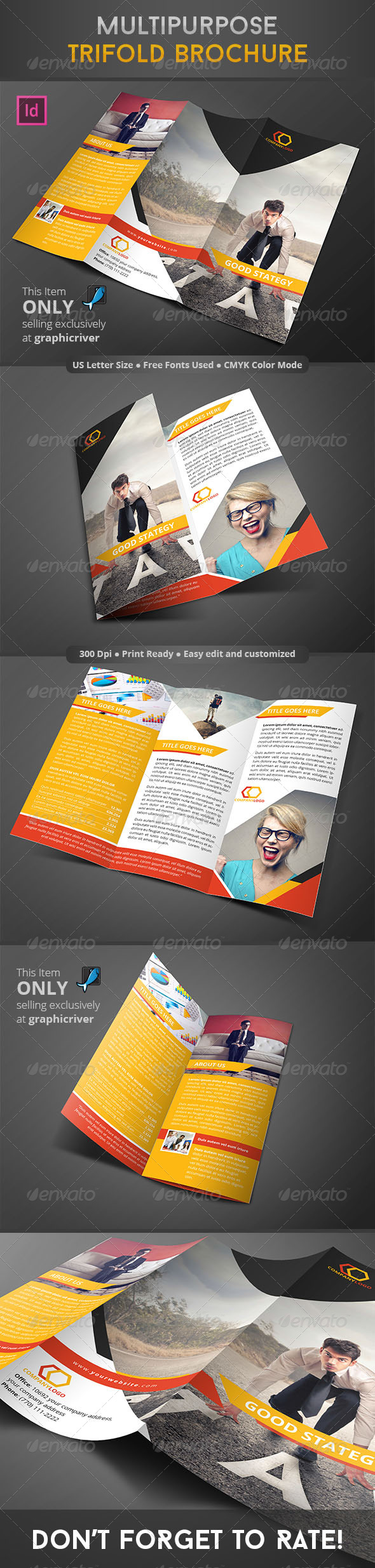 GraphicRiver Multipurpose Trifold Brochure 8625054