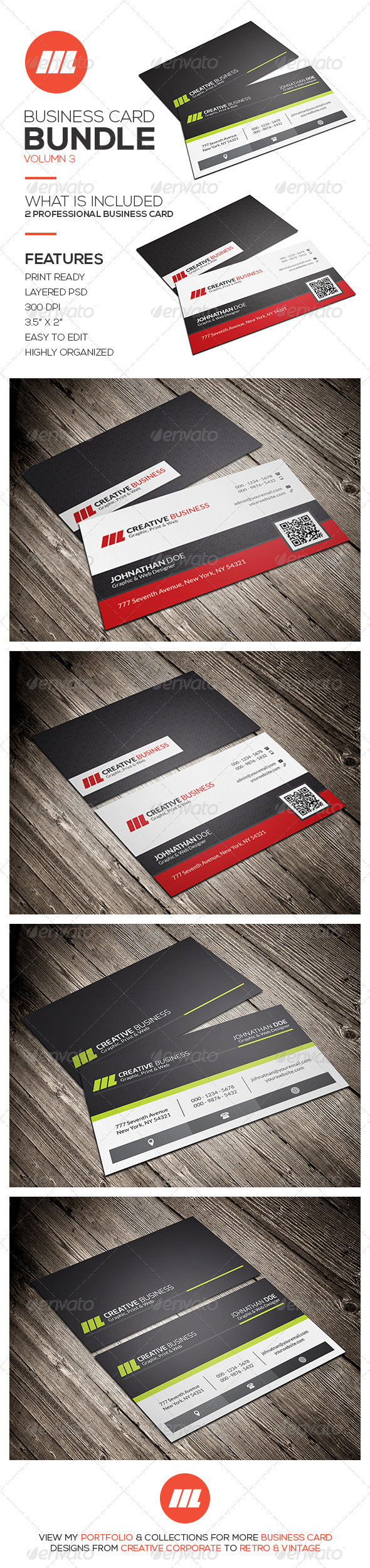 GraphicRiver Business Card Bundle Vol 3 8625200