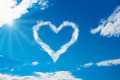 Heart Shaped Cloud In Blue Sky - PhotoDune Item for Sale
