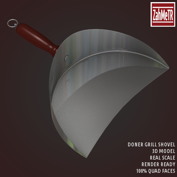 3DOcean Doner Grill Shovel 3D Model 8625223