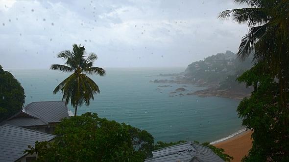 Tropical Rain Seascape