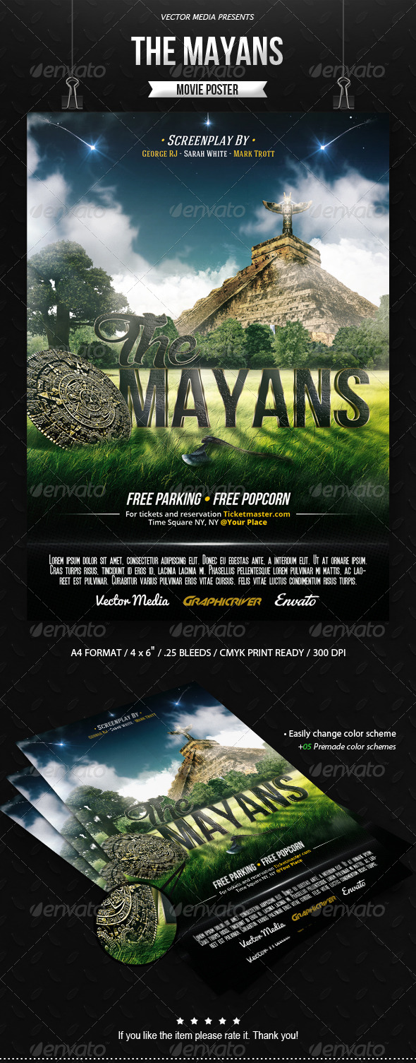 GraphicRiver The Mayans Movie Poster 8625341