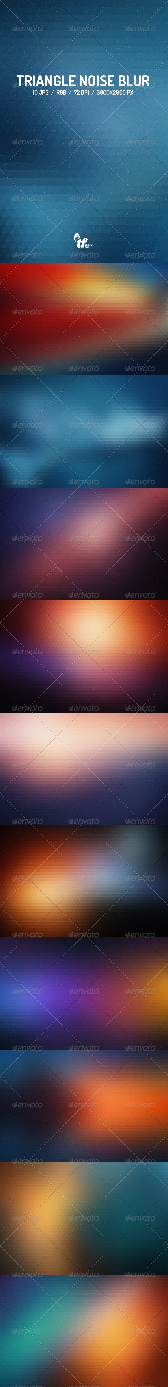 GraphicRiver Triangle Noise Blur Backgrounds 8625410
