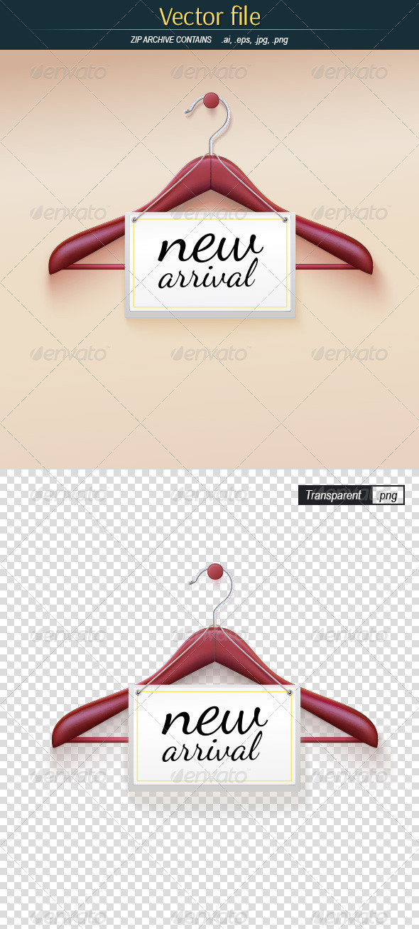 GraphicRiver Wooden Hanger With Label 8625411