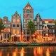 Night city view of Amsterdam canal Herengracht - PhotoDune Item for Sale