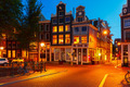 Night city view of Amsterdam houses - PhotoDune Item for Sale