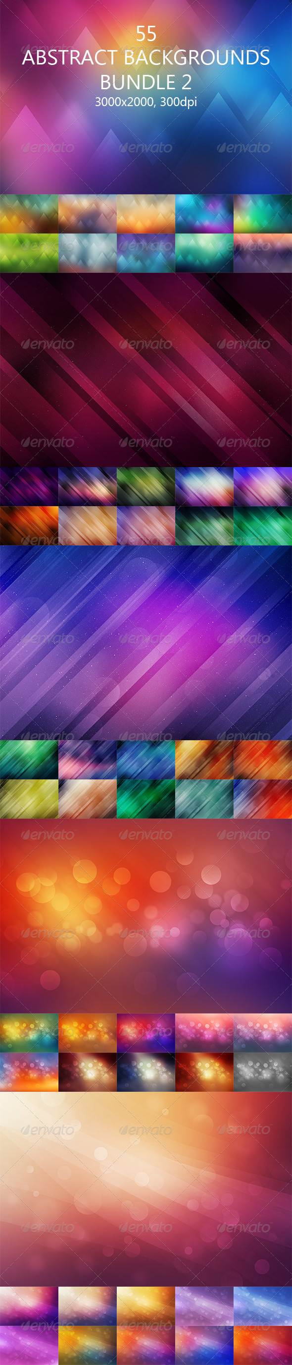 GraphicRiver 55 Abstract Backgrounds Bundle 2 8625597