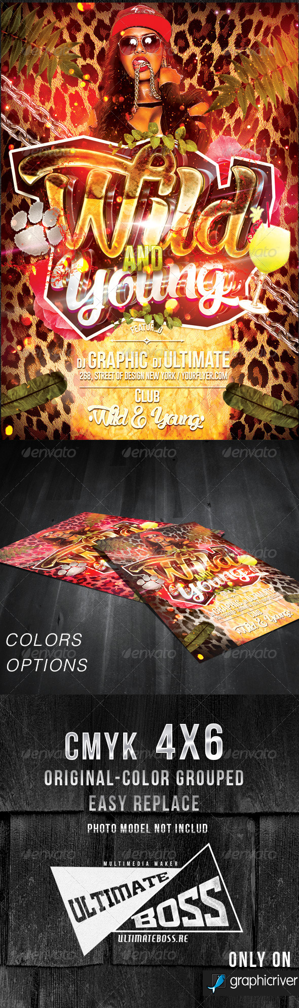 Wild and Young Flyer Template