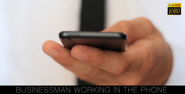 Businessman Working In The Phone