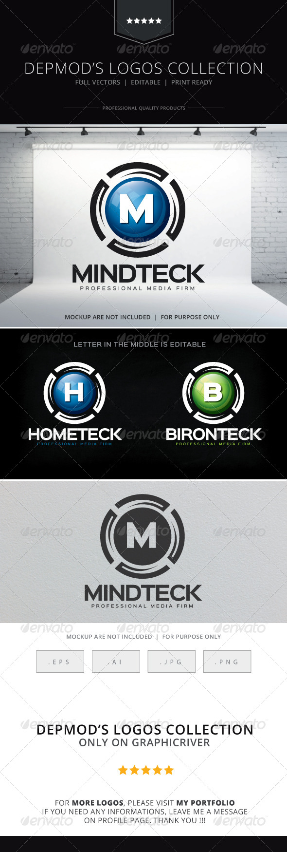 GraphicRiver Mind Teck Logo 8619742