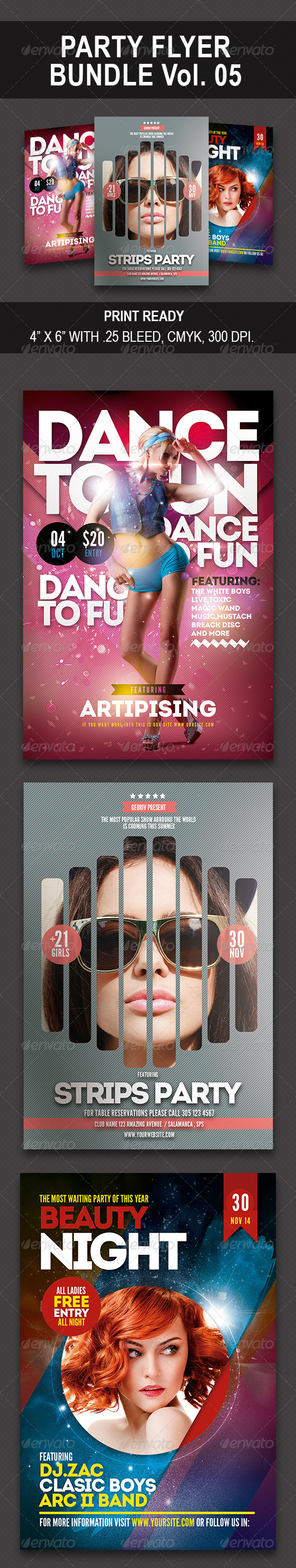 GraphicRiver Party Bundle Flyer vol 05 8625756
