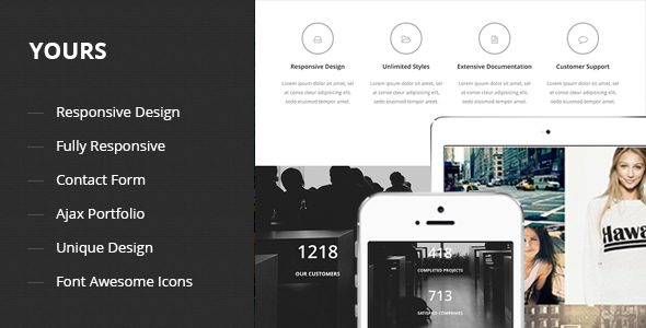 ThemeForest Yours Responsive Onepage Template 8564561