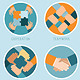 Vector Teamwork and Cooperation Concept - GraphicRiver Item for Sale