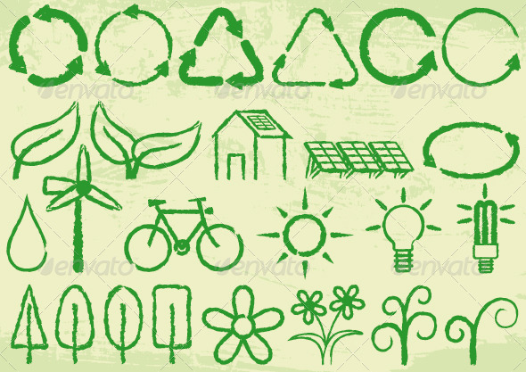 GraphicRiver Green Icons 8625819