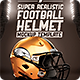 Realistic Football helmet Mockup - GraphicRiver Item for Sale
