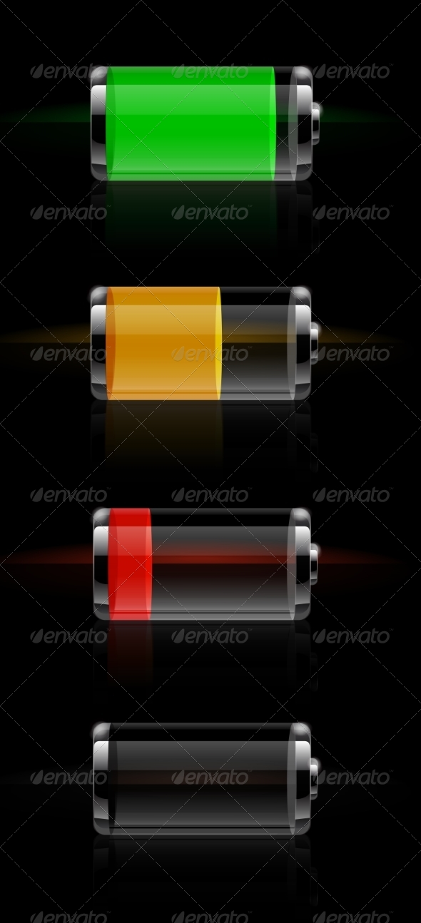 GraphicRiver Glossy Transparent Battery Level Indicator 8625843