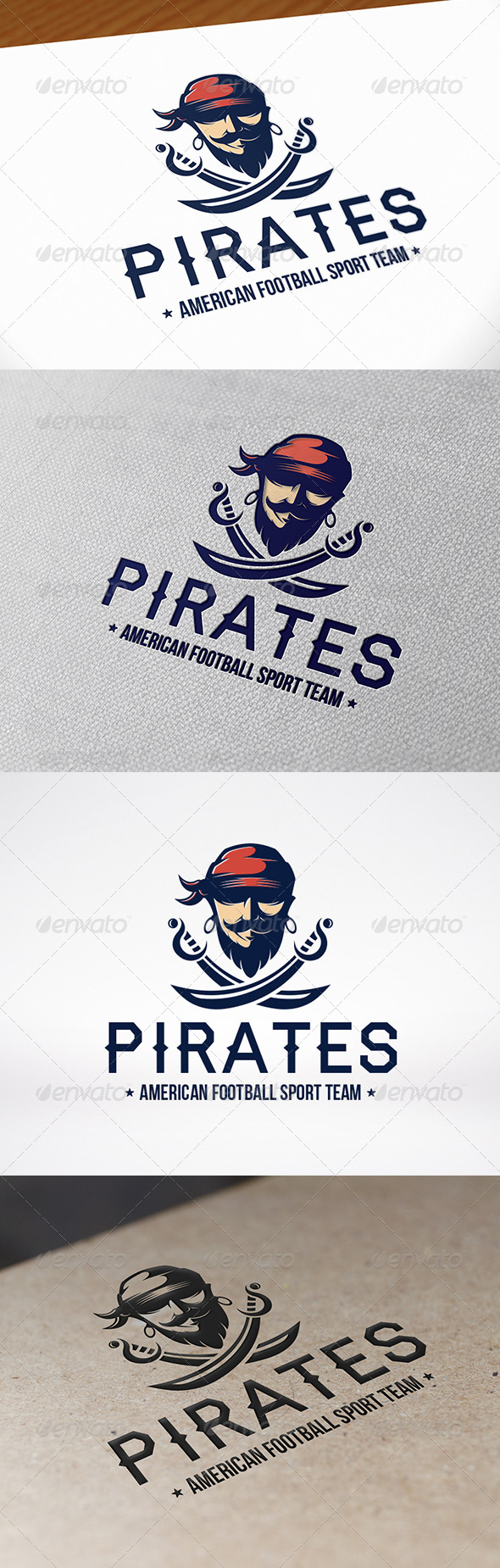 GraphicRiver Pirate Sword Logo Template 8626067