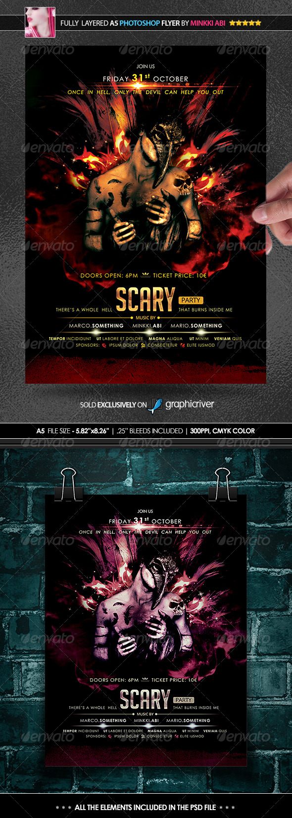 GraphicRiver Scary Party Poster Flyer 8613851