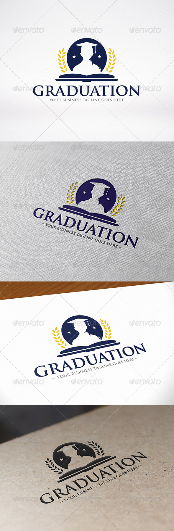 GraphicRiver University Graduation Logo Template 8626072