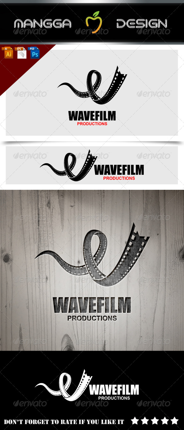 GraphicRiver Wave Film Logo 8626078