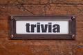 trivia - file cabinet label - PhotoDune Item for Sale