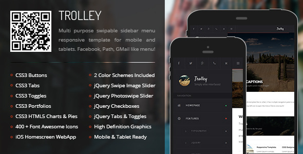 ThemeForest Trolley Mobile & Tablet Responsive Template 8626127