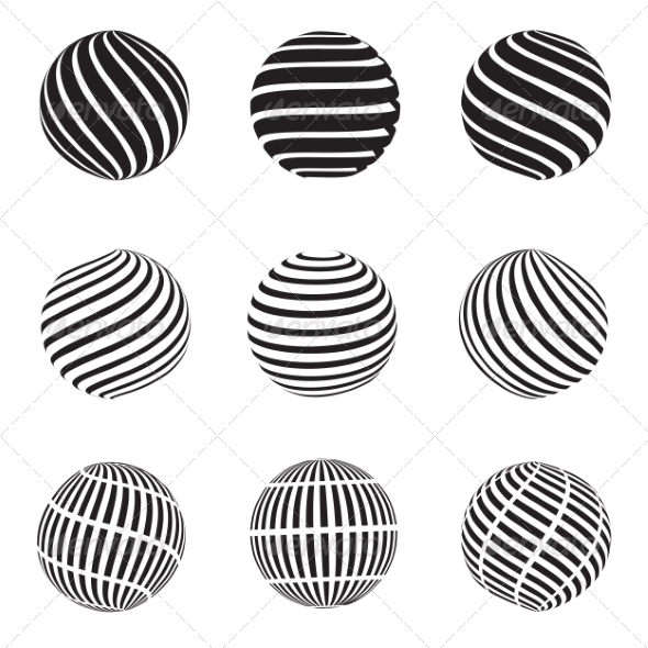 GraphicRiver Abstract Dotted Swirls and Grill Spheres 8626337
