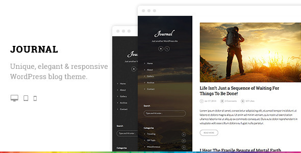 Journal Elegant Responsive WordPress Blog Theme - Personal Blog / Magazine