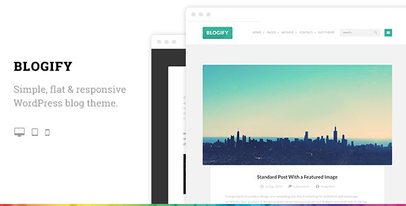Blogify Flat Responsive WordPress Blog Theme - Blog / Magazine WordPress