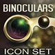 Retro Binocular Icon Set - GraphicRiver Item for Sale