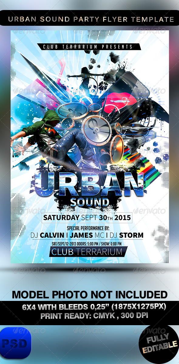 Urban Sound Party Flyer Template