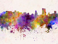 Orlando skyline in watercolor background - PhotoDune Item for Sale