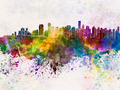 Vancouver skyline in watercolor background - PhotoDune Item for Sale