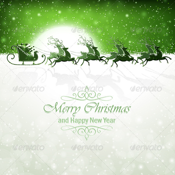 GraphicRiver Santa Claus with Reindeer 8626771