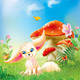 Fairy Baby Fox with Background - GraphicRiver Item for Sale