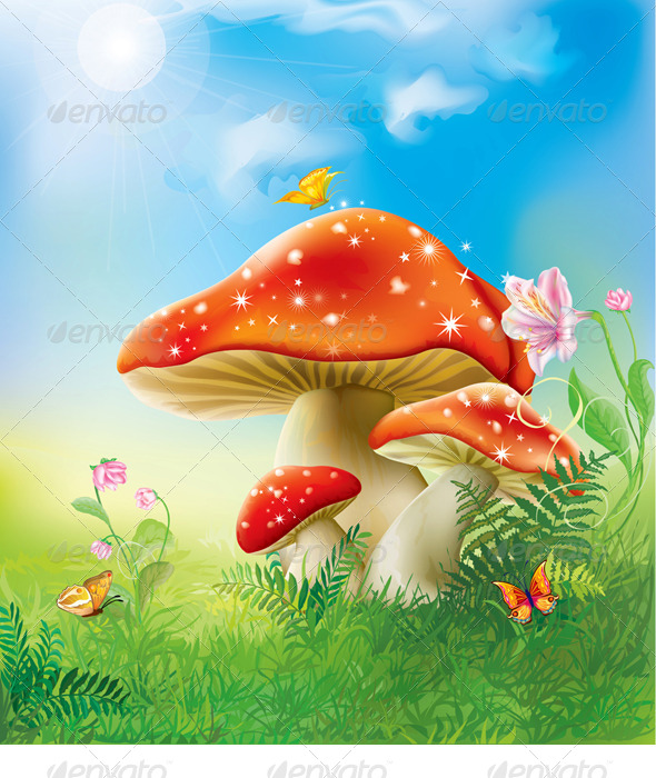GraphicRiver Red Magic Mushrooms 8626938