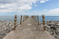 Conrete jetty and iron fence with ropes - PhotoDune Item for Sale