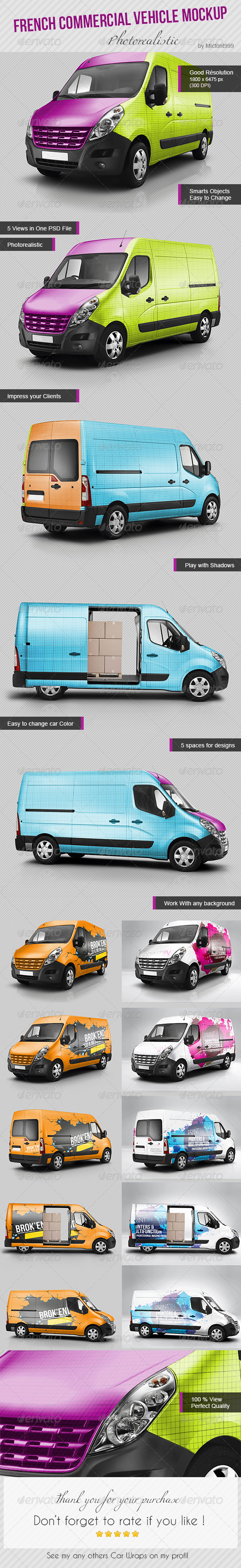 GraphicRiver Photorealistic French Commercial Utility Mock-up 8627198