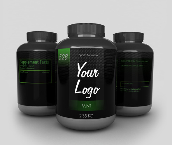 3DOcean Protein Bottles with 3 Sides 8627481