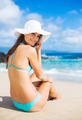 Portrait of young woman at the beach - PhotoDune Item for Sale