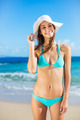 Beautiful Young Woman on the Beach - PhotoDune Item for Sale