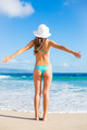 Beautiful Happy Young Woman on the Beach - PhotoDune Item for Sale