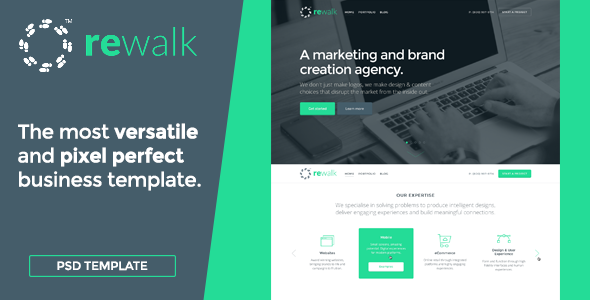 ReWalk - Business PSD Template - Business Corporate