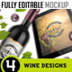 Fully Editable Mockup Wine Design - GraphicRiver Item for Sale