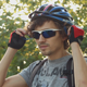 Cyclist Removes His Helmet - VideoHive Item for Sale