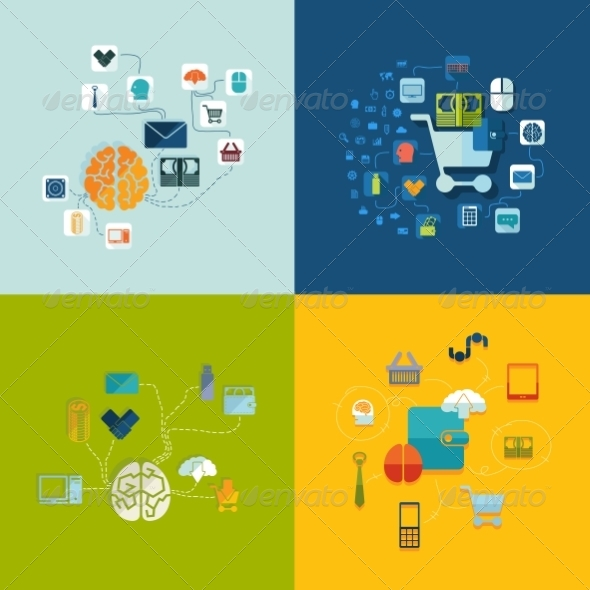 GraphicRiver Set of Business Icons 8627921