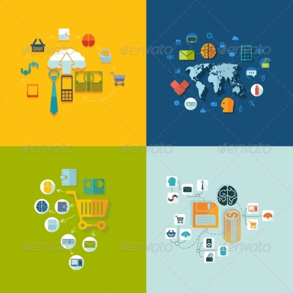 GraphicRiver Set of Business Icons 8627923