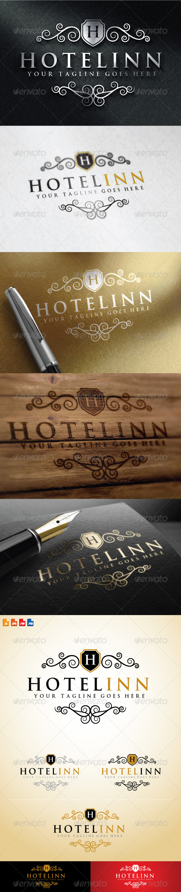 GraphicRiver Hotel Inn Logo 8628014