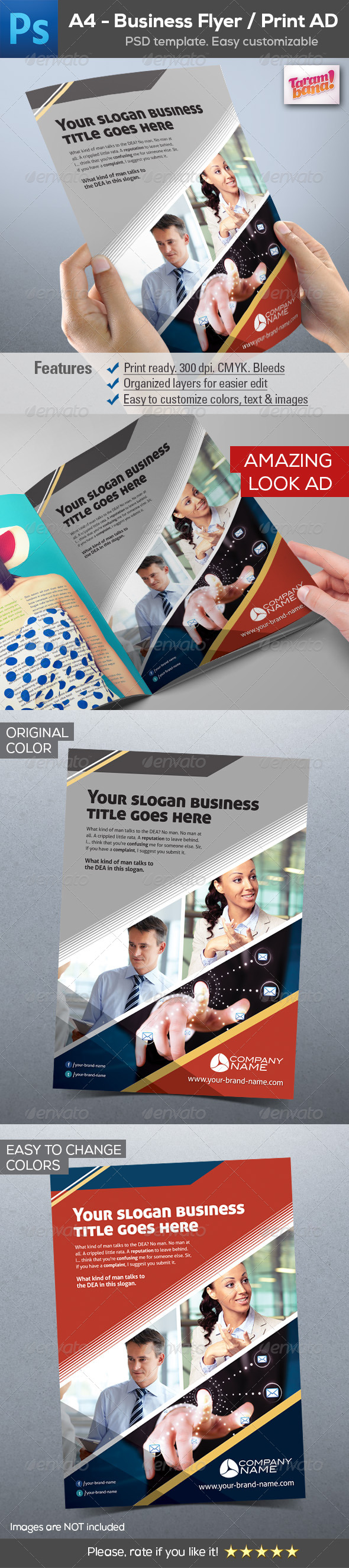 GraphicRiver Business Flyer Print AD Template 8628415