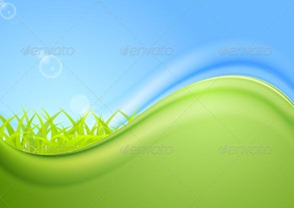 GraphicRiver Bright Summer Wavy Background 8630936